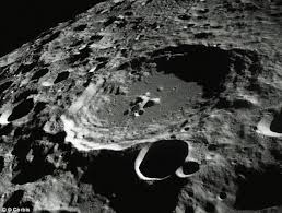 Lunar Craters View From Orbit